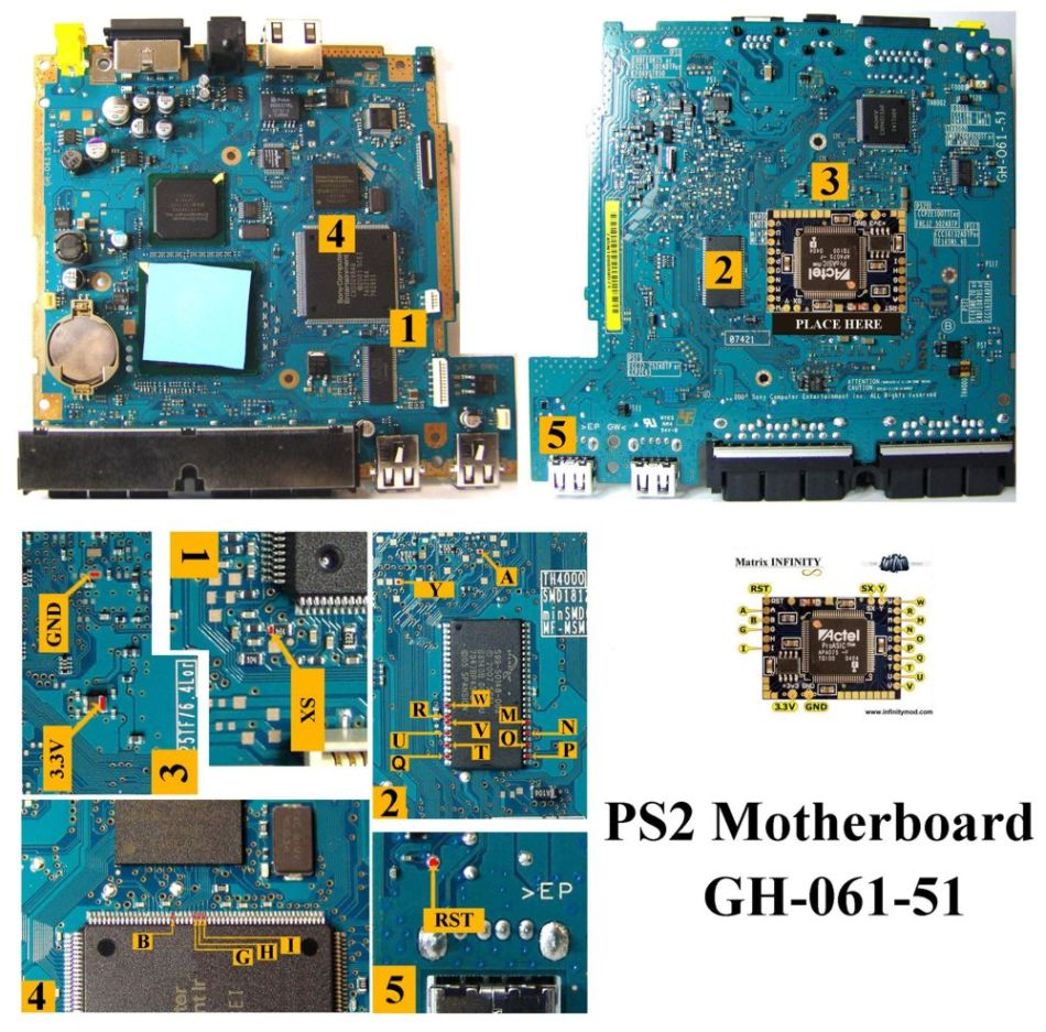 Ps2 Slim Xenops Gh 052 51 77004 Sony Circuit Board Playstation 2 Diagram Matrix Infinity 061