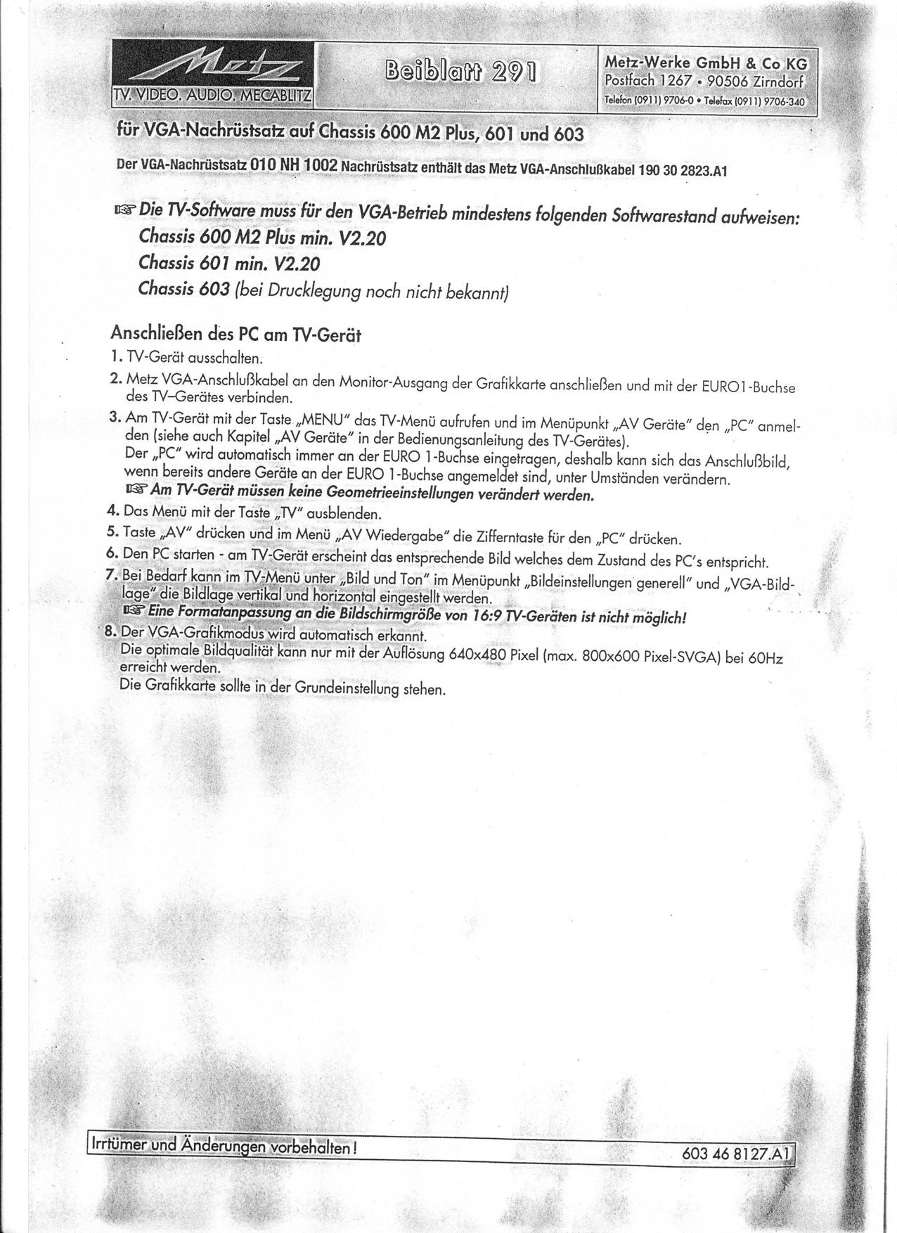 Ungewöhnlich Vga Kabel Schaltplan Bilder - Der Schaltplan - greigo.com