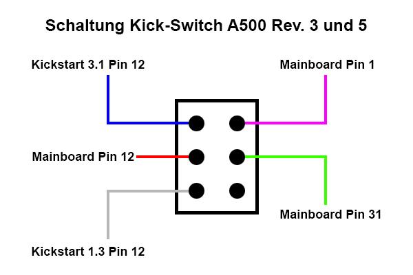 Amiga 500 1.3 - 3.1 Kick-Switch / -Umschalter - Verschiedenes ...
