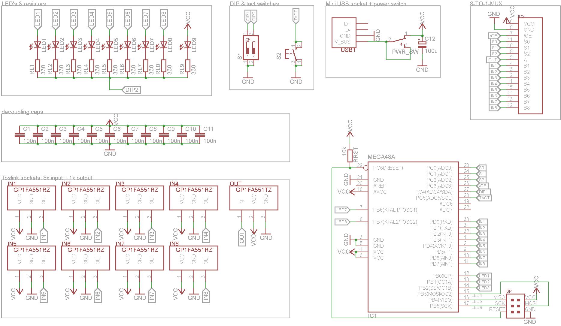 8-fach Toslink-Switch mit automatischer Umschaltung - Eure Projekte ...