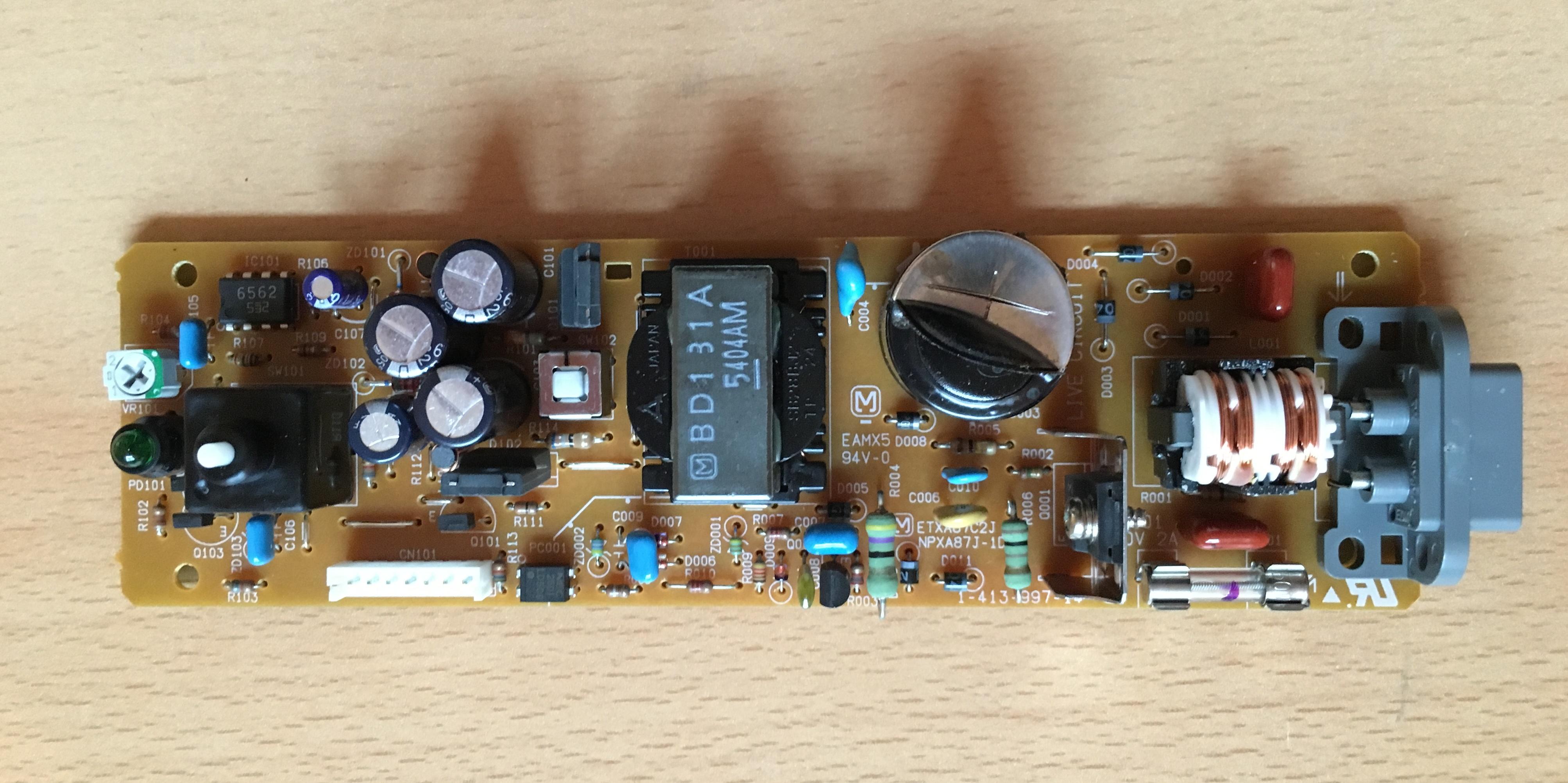 110V Netzteil einer japanischen PS1 reparieren - Sony - Circuit-Board